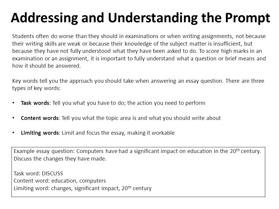 examples of how to write an essay Ten steps for writing an essay start each paragraph with a topic sentence that clearly links the paragraph to the rest of the essay, eg a striking example of.