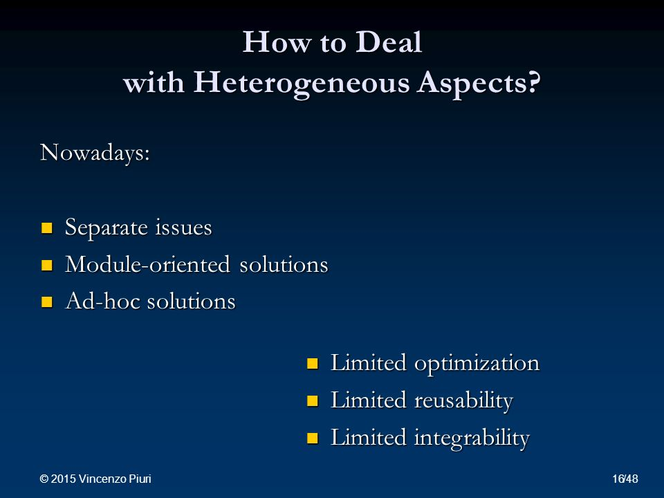 How to Deal with Heterogeneous Aspects.