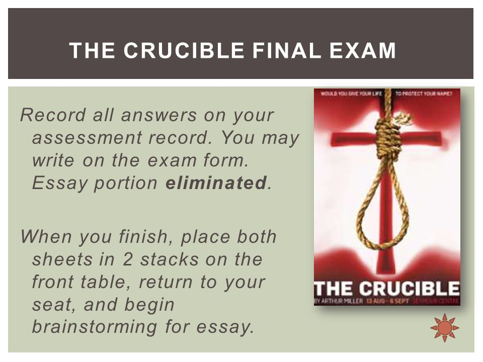 crusible essays