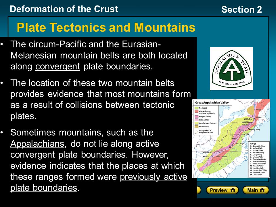 Deformation of the Crust Section 2 Section 2: How Mountains Form ...