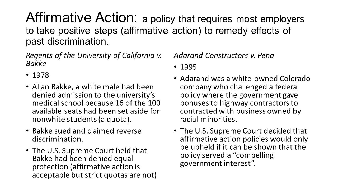 a research on the affirmative action policy Affirmative action policies have been around for decades, and they have been surrounded by controversy for just as long affirmative action tests poorly in polls and is under continual challenge in federal and state courts.