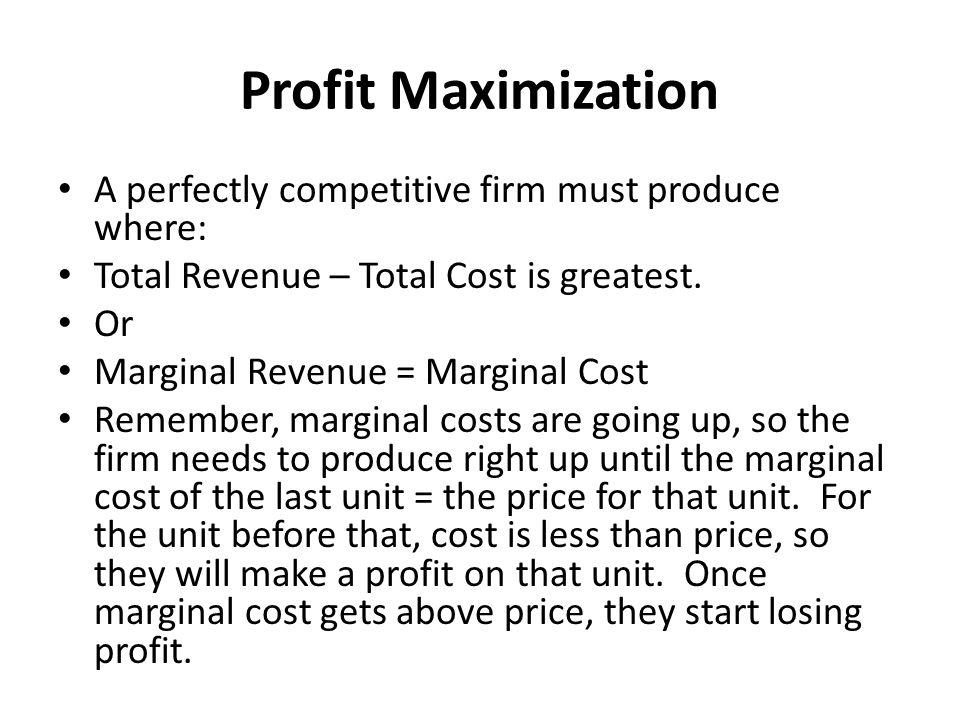 profit maximization perfect competition pdf