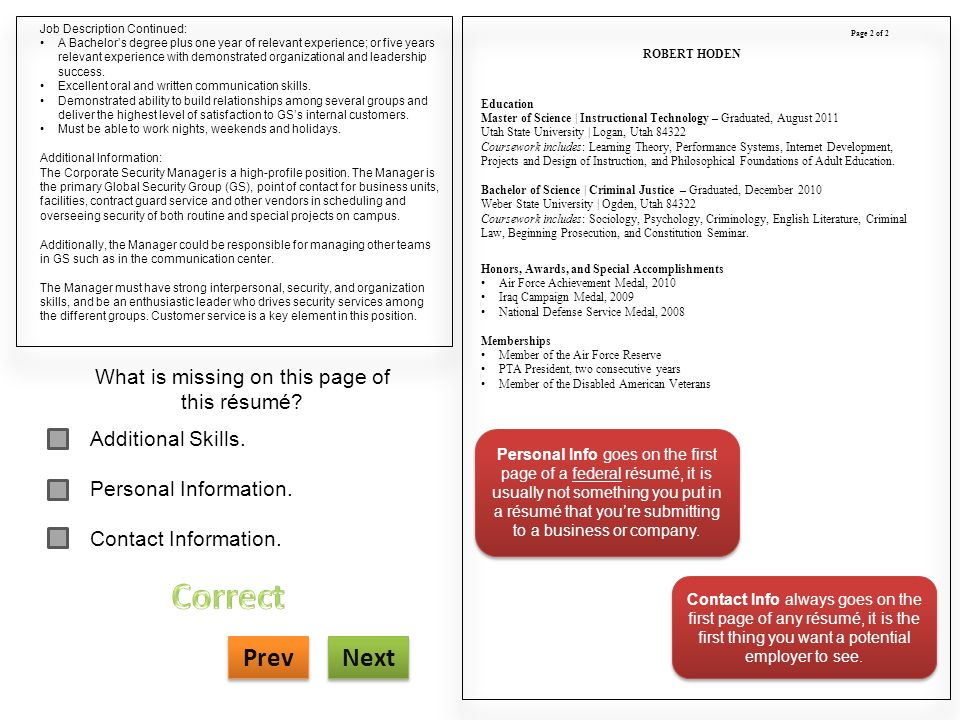 Pta Job Description For Resume