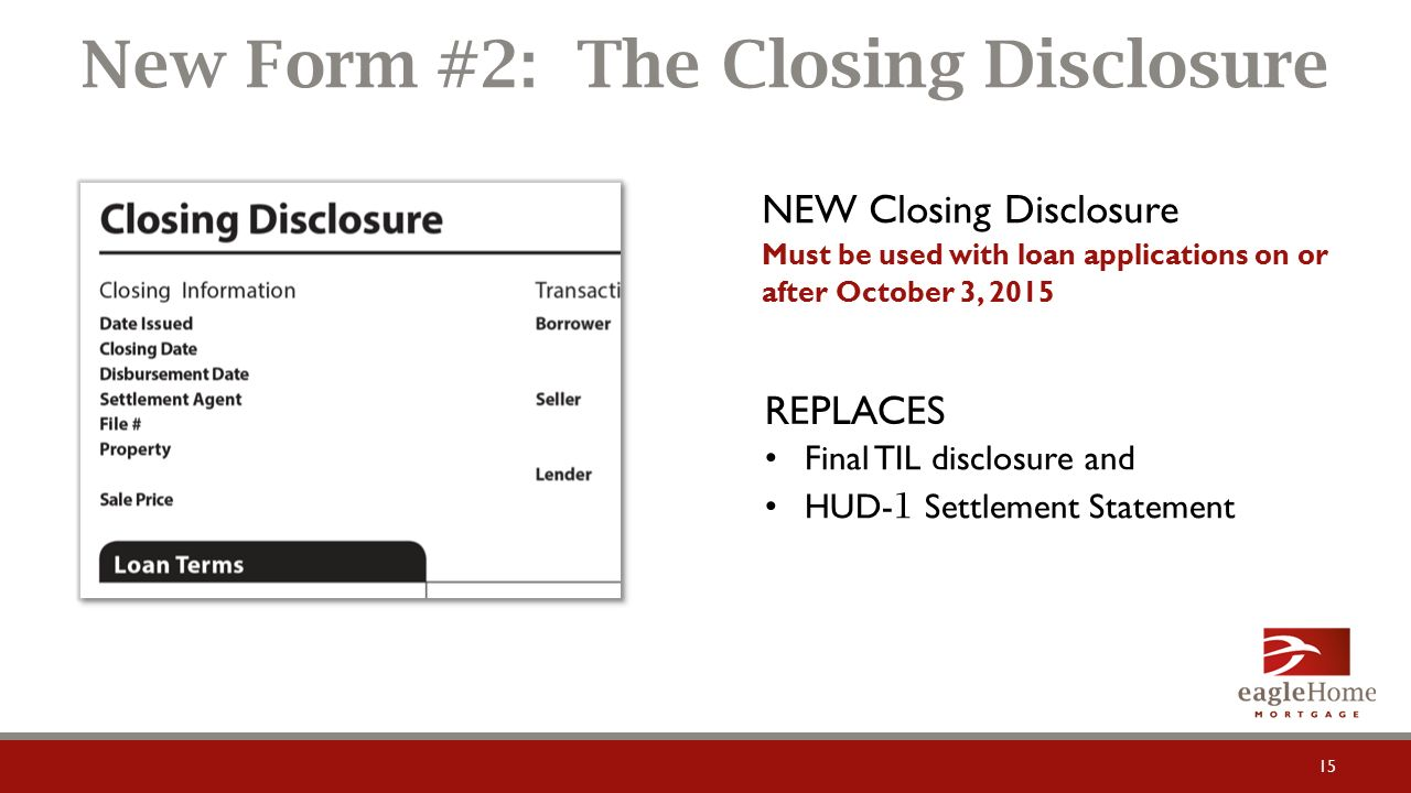Get to Know… TRID TILA-RESPA Integrated Disclosures Big Changes ...