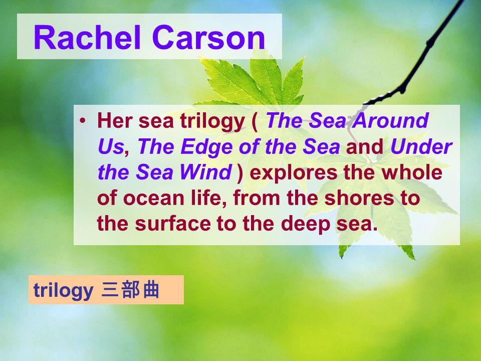rachel carson the sea around us