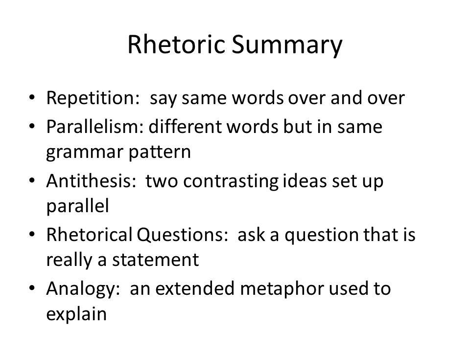 rhetorical research paper