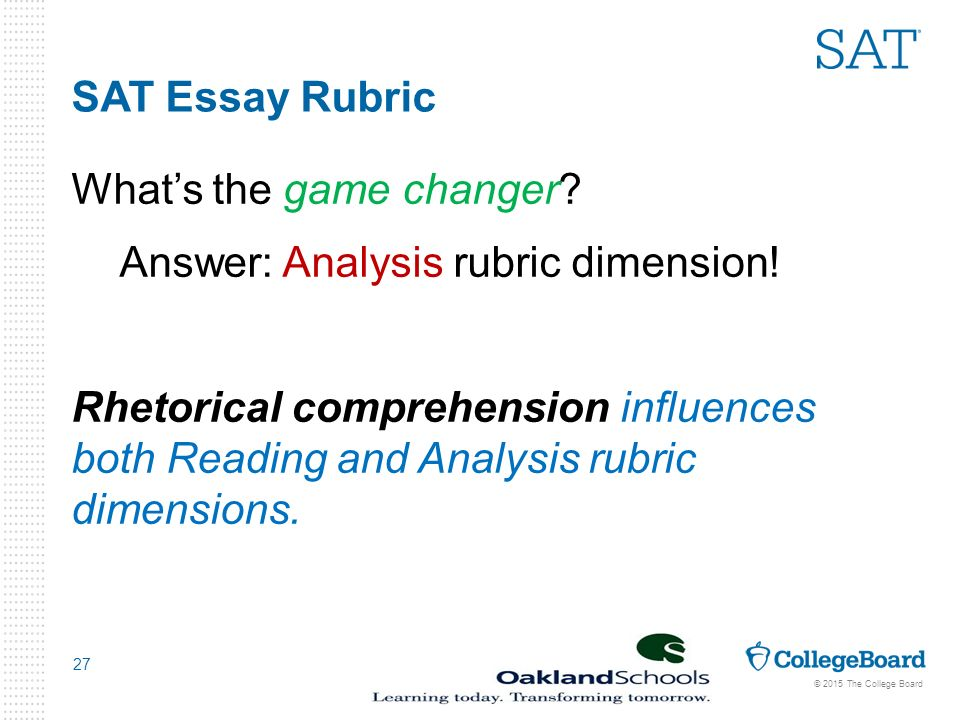sat rubric for essay