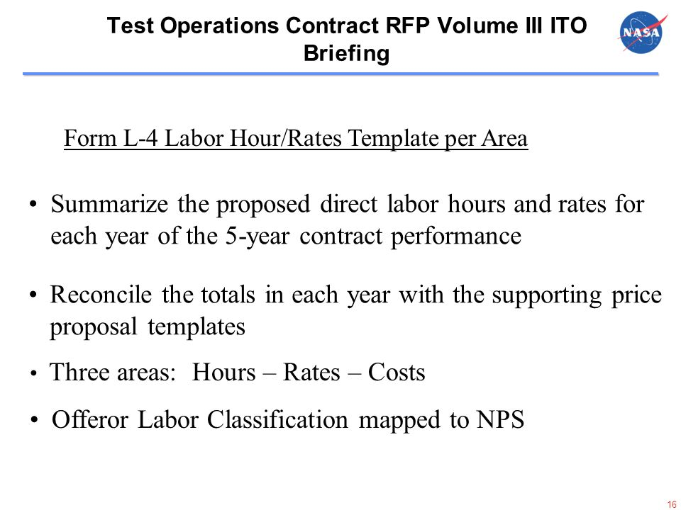 Test Operations Contract Rfp Volume Iii Ito Briefing Rfp