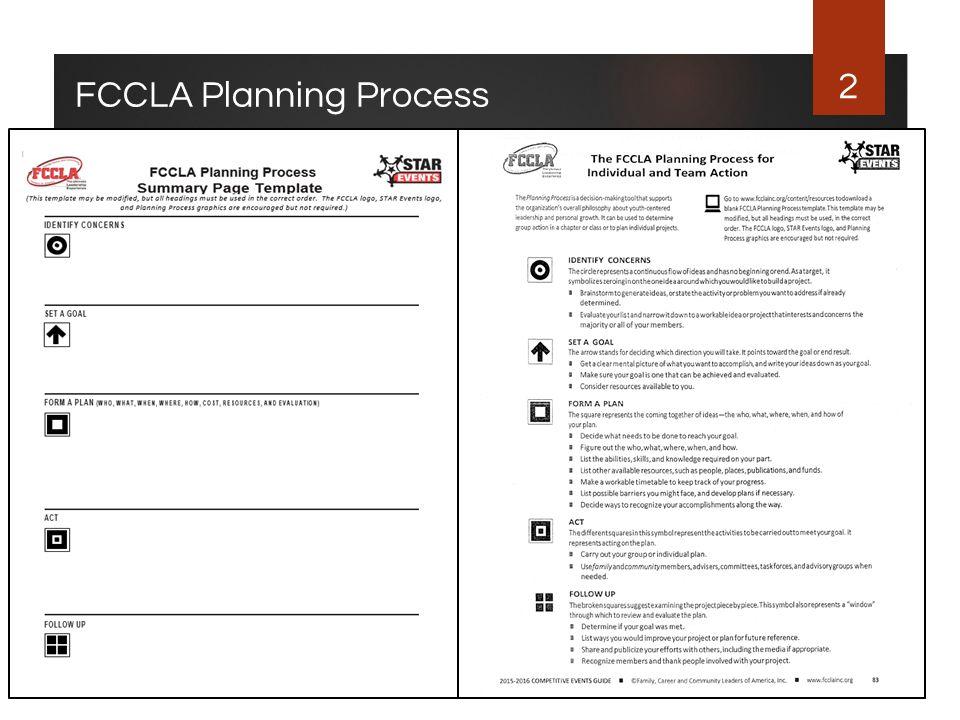 2 FCCLA Planning Process