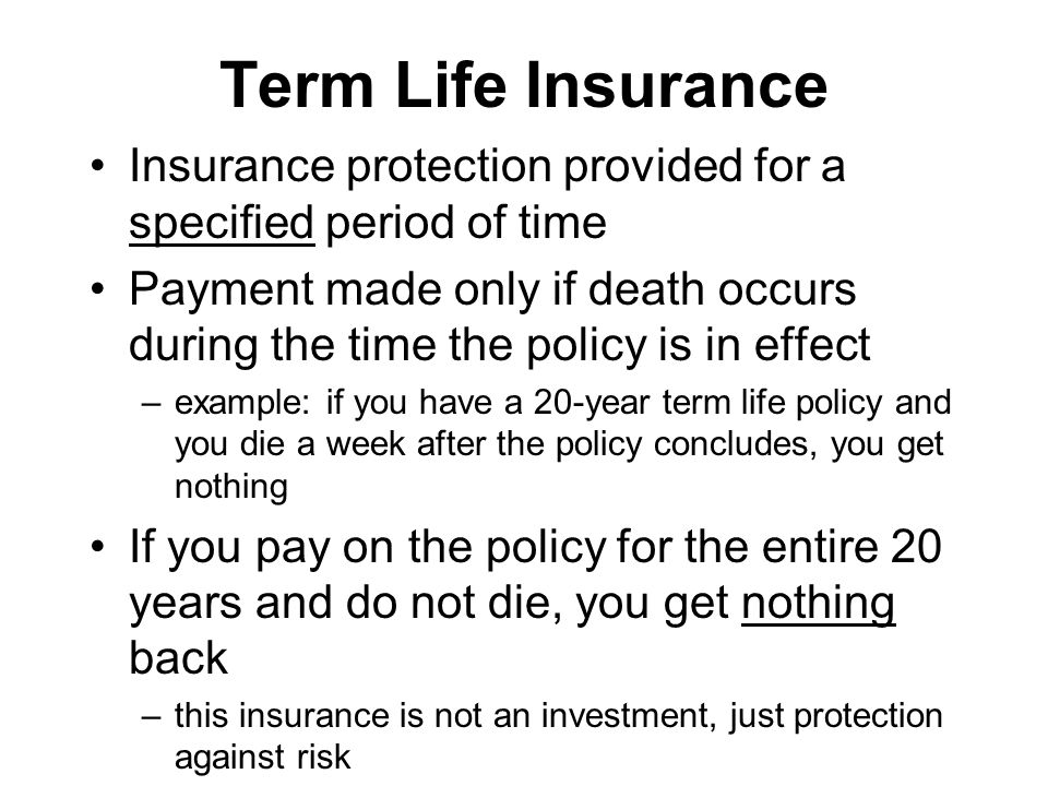 How does life insurance work after death