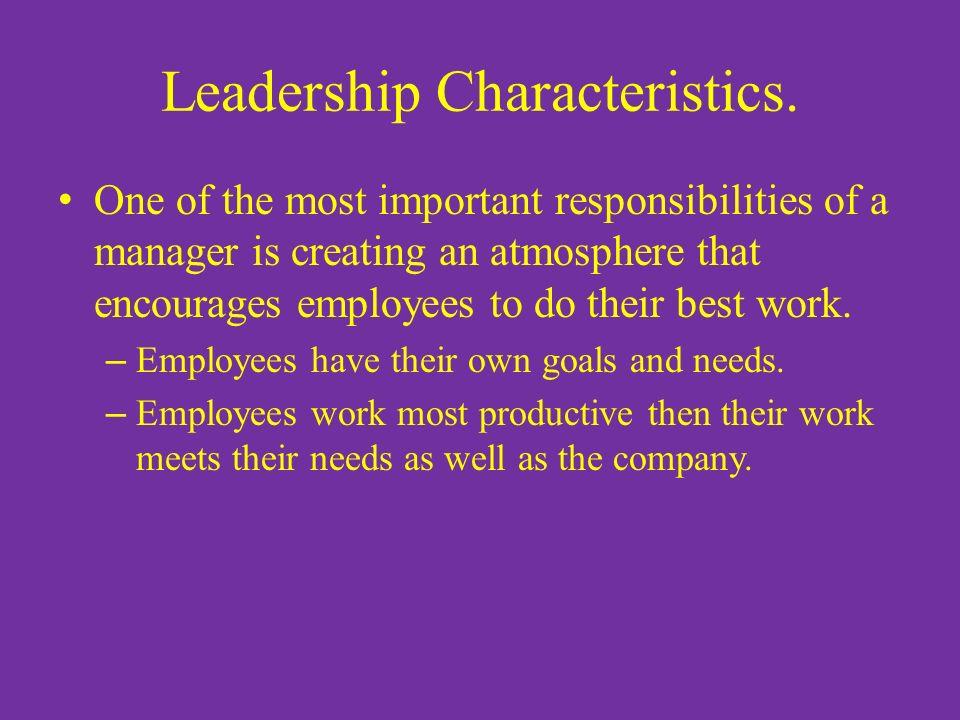 Leadership Characteristics.