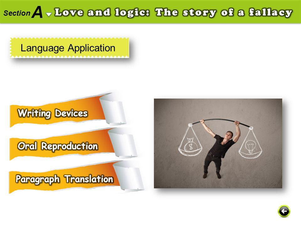 A Section Language Application