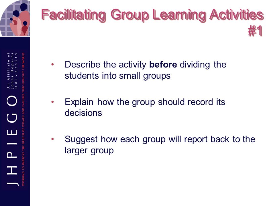 Discussion Advantages Provide a forum to discuss attitudes Emphasize key points Create interest and stimulate thinking about a topic Encourage active participation