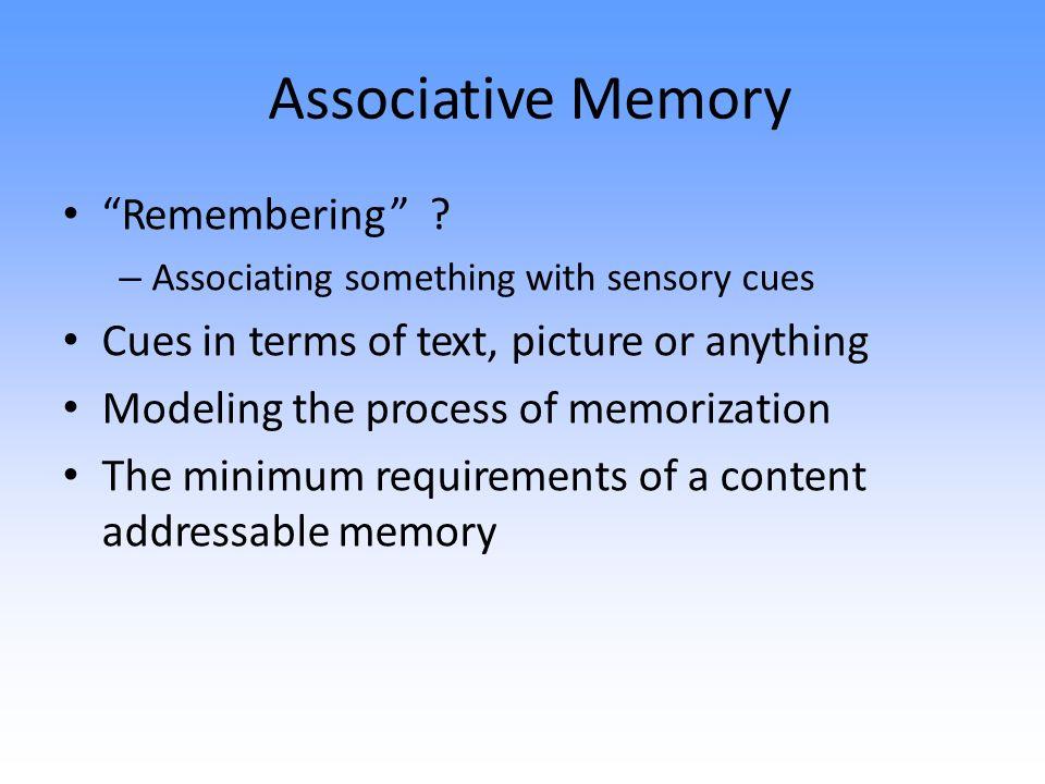 Associative Memory Remembering .