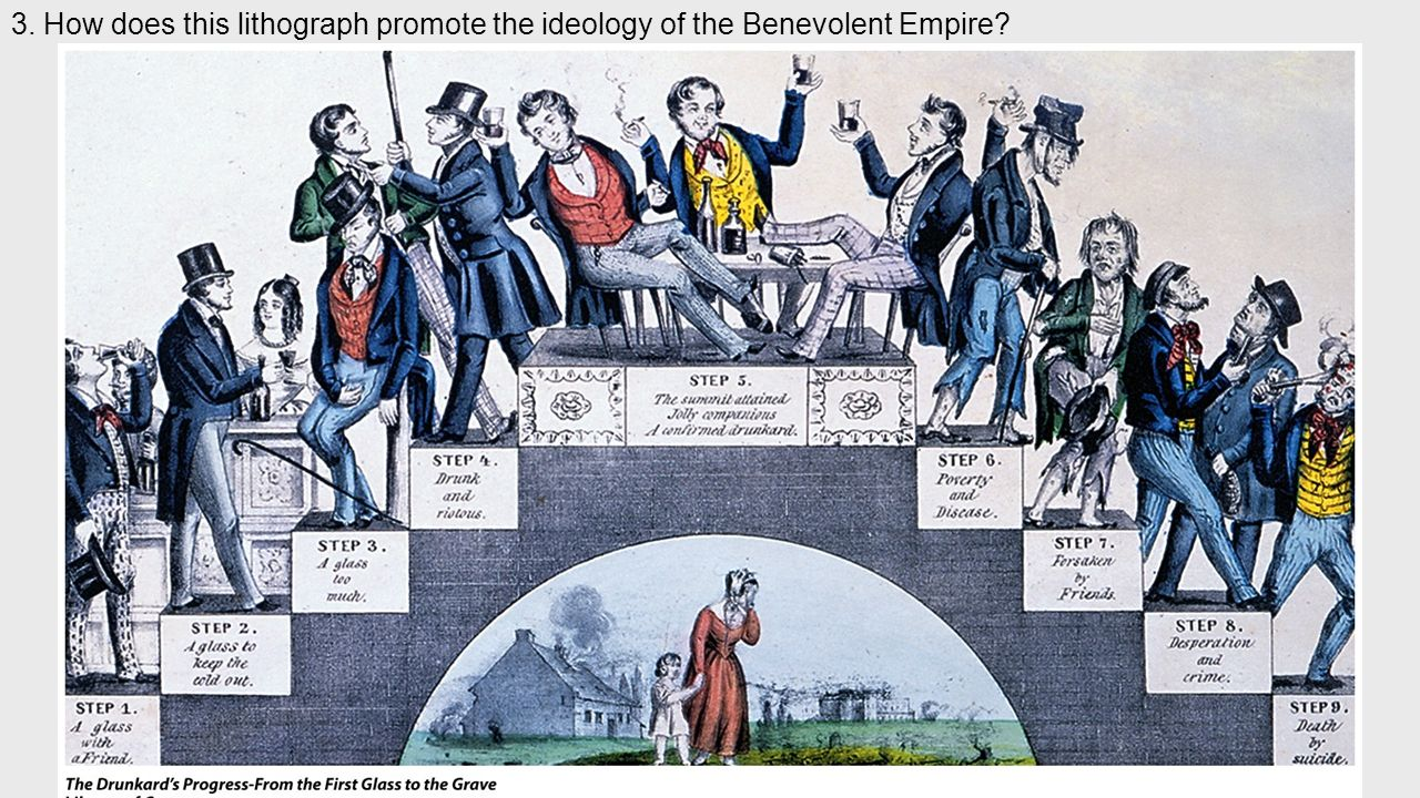 3. How does this lithograph promote the ideology of the Benevolent Empire