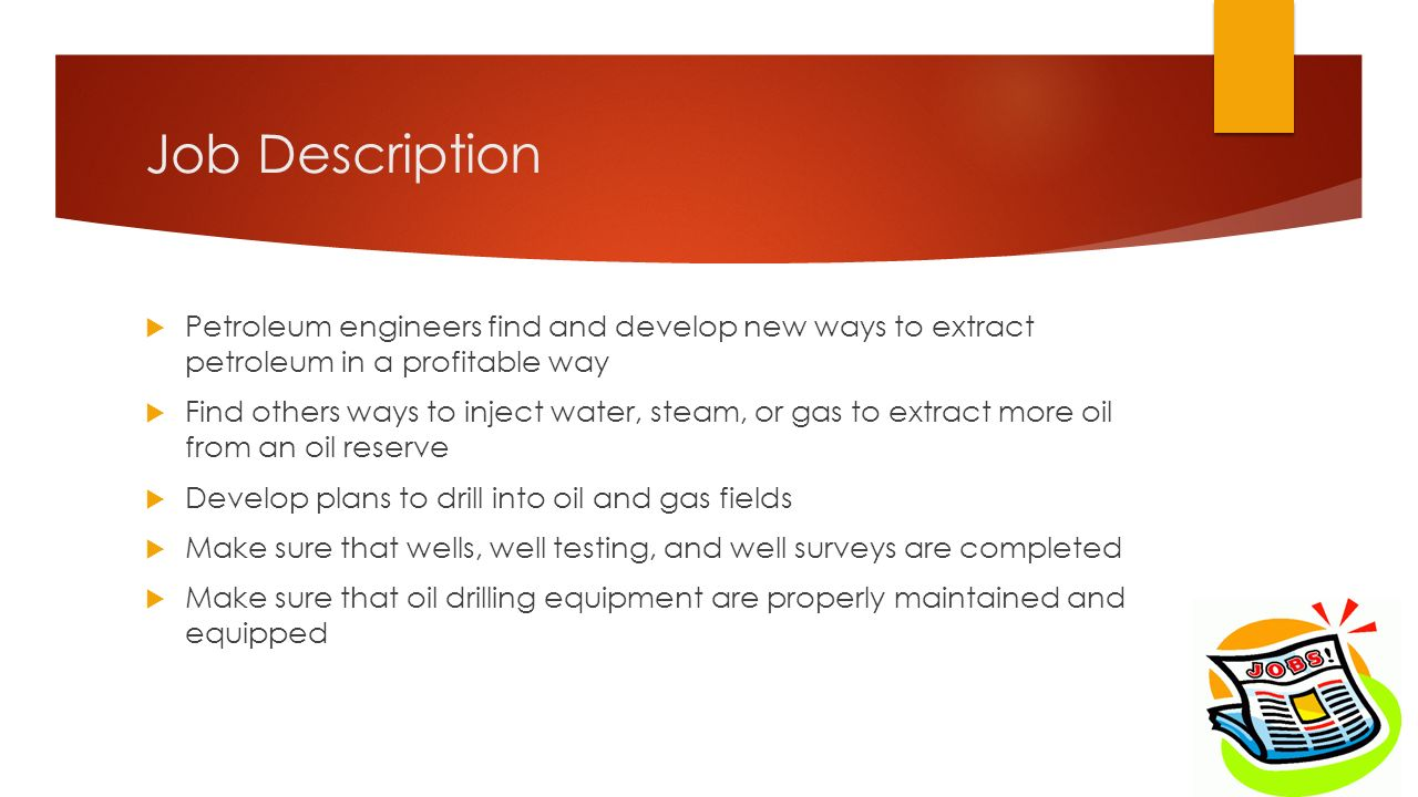 Petroleum Engineer. 2 Job Description ...