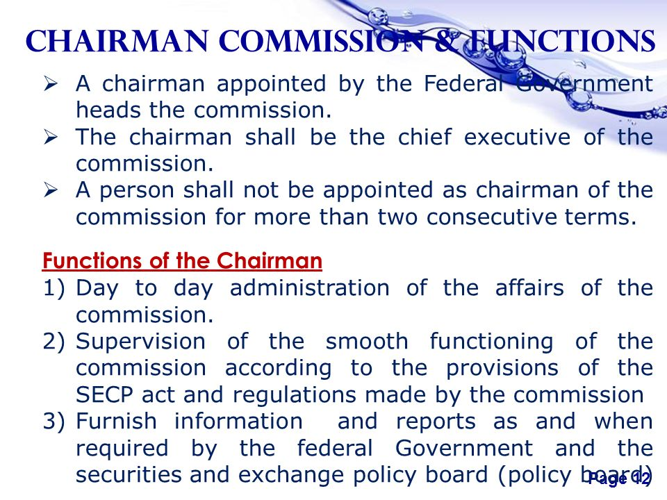 Free powerpoint templates page 1 free powerpoint templates chapter free powerpoint templates page 12 chairman commission functions a chairman appointed by the federal toneelgroepblik Gallery