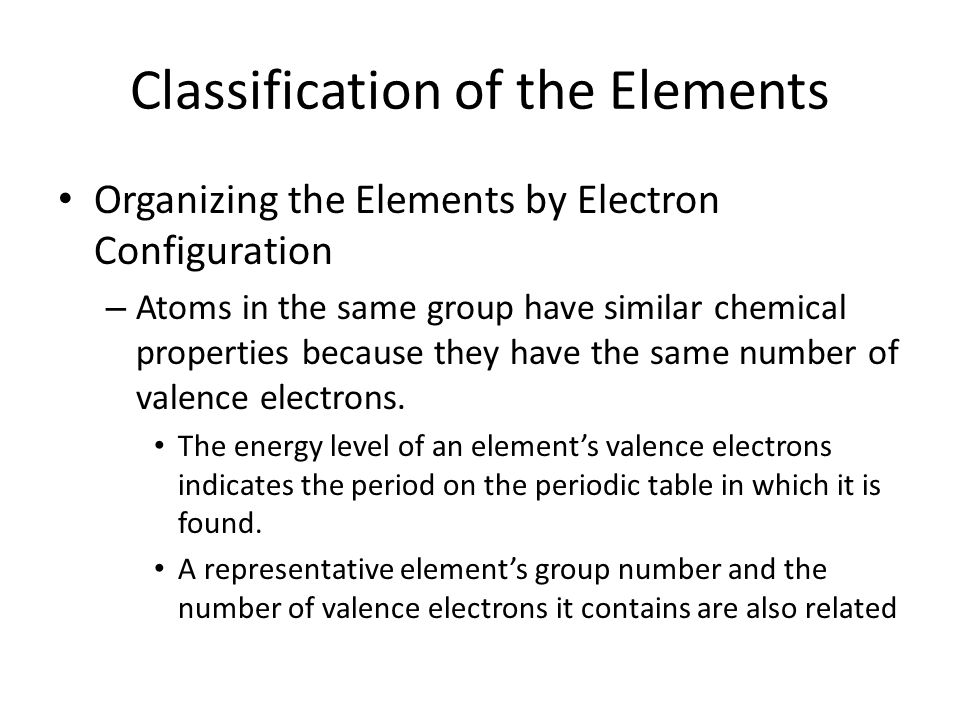 Why do elements in the same group have similar chemical properties?