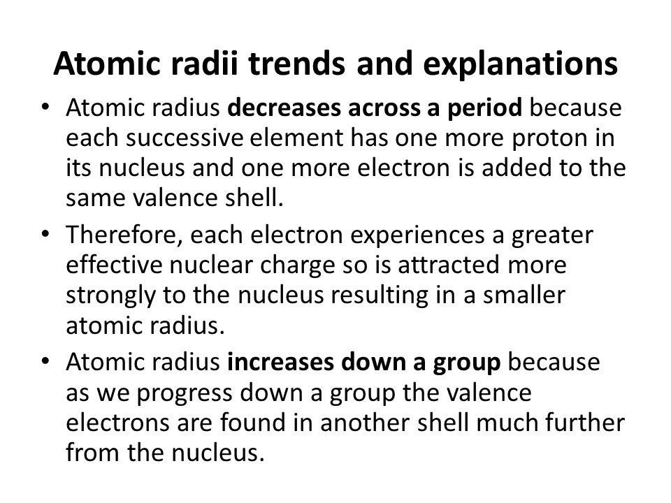 Trends in the periodic table atomic radius atomic radii trends 3 atomic urtaz Choice Image