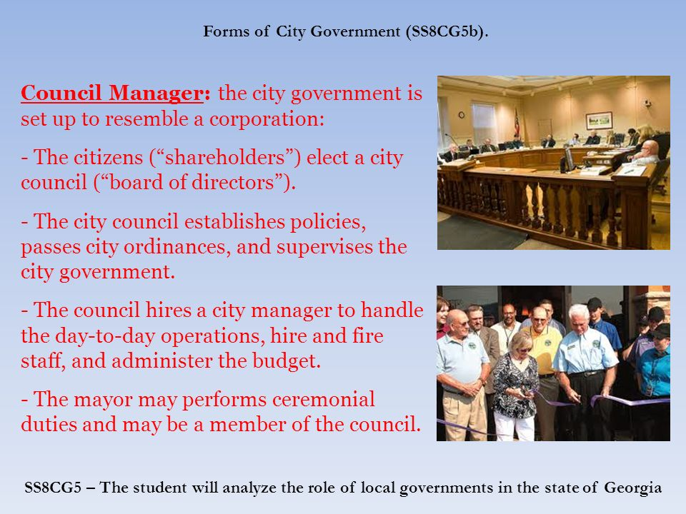 Local Government in Georgia. Just as the United States is ...