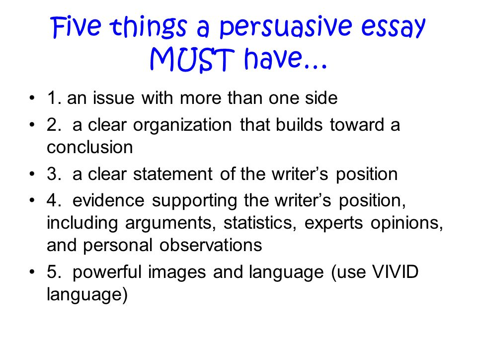 things to write a persuasive essay on