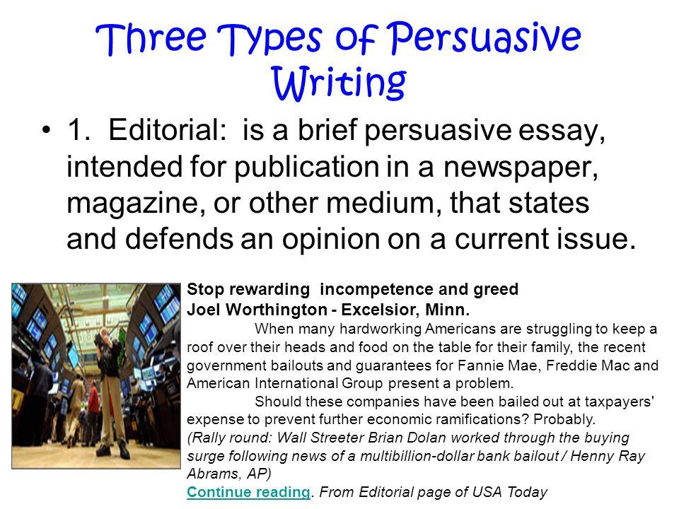 typewritten essay