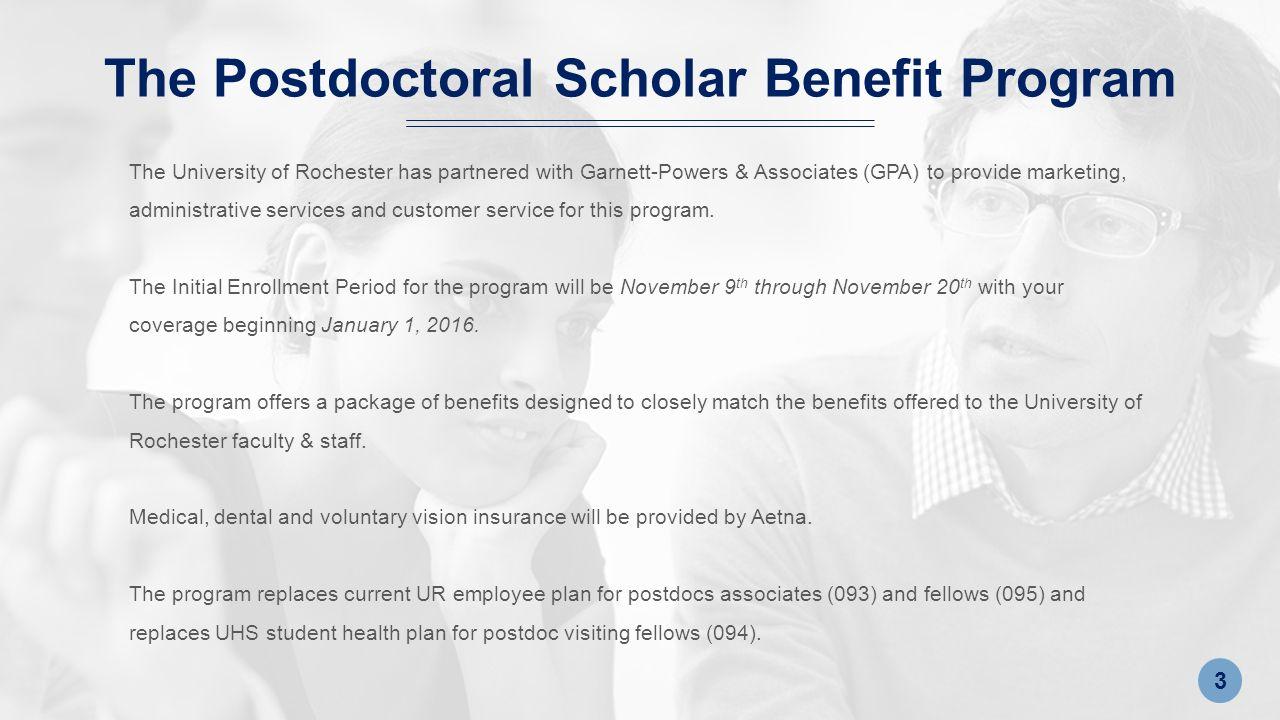 Postdoctoral Scholar Benefit Program GARNETT-POWERS & ASSOCIATES ...