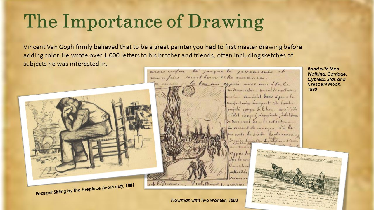 The Importance Of Drawing Vincent Van Gogh Firmly Believed That To Be A Great Painter You