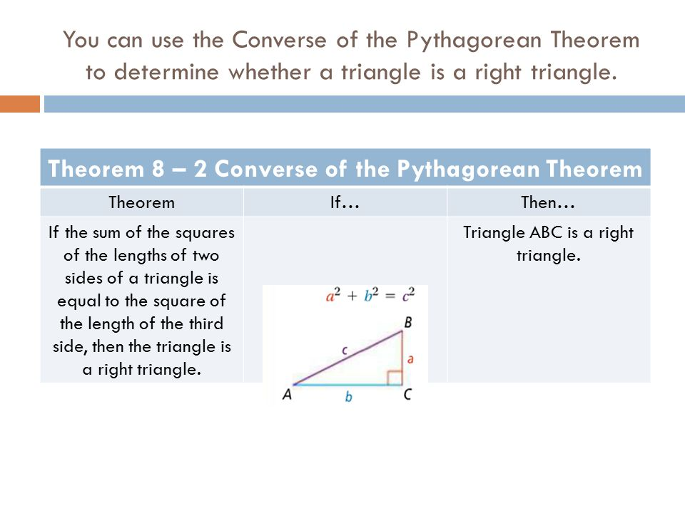 The pythagorean theorem assignment answers