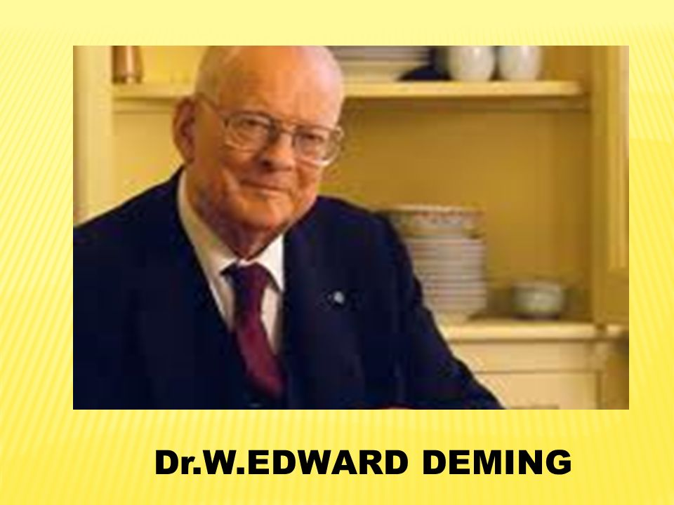 Dr.W.EDWARD DEMING