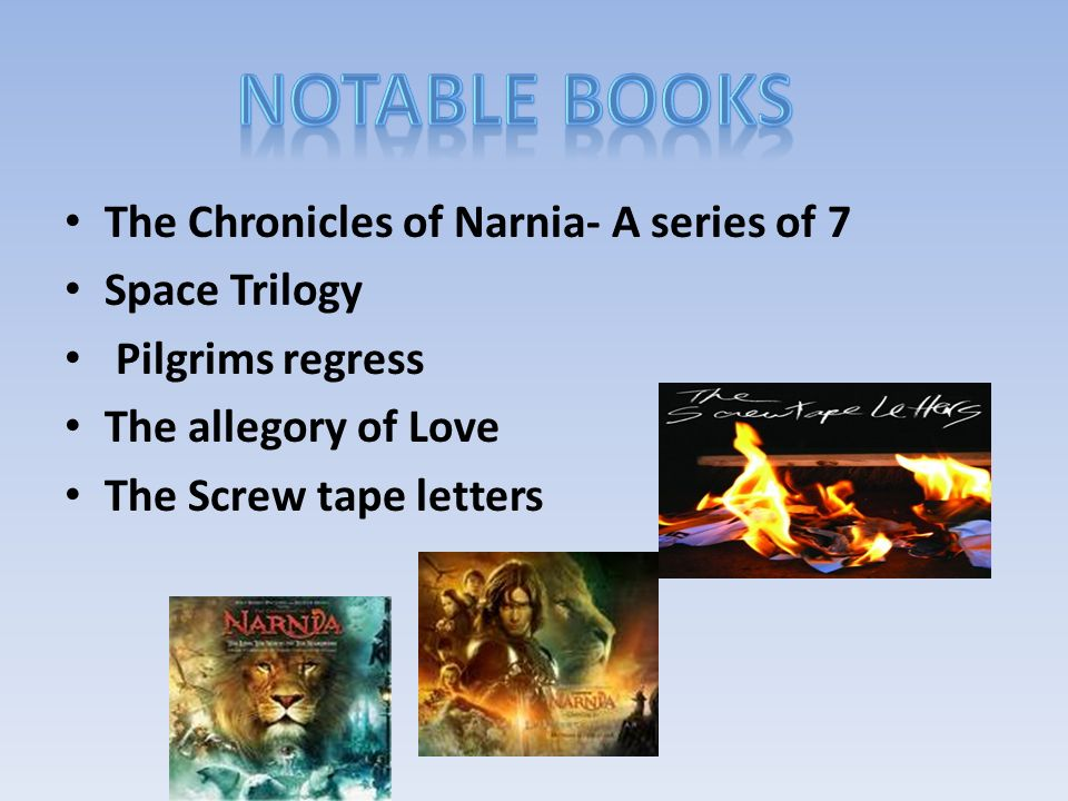 c s lewis the chronicles of narnia a series of space trilogy  2 the chronicles of narnia a series of 7 space trilogy pilgrims regress the allegory of love the screw tape letters
