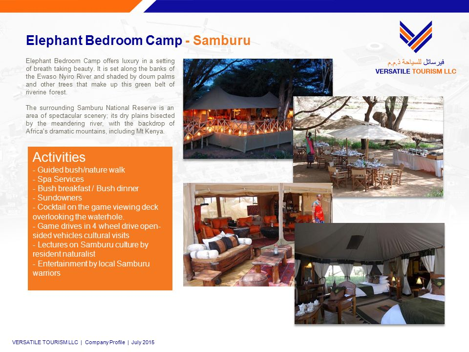 Elephant Bedroom Camp - Samburu Elephant Bedroom Camp offers luxury in a setting of breath taking beauty.
