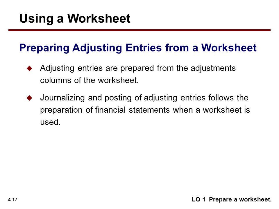 adjusting entries posting and preparing an