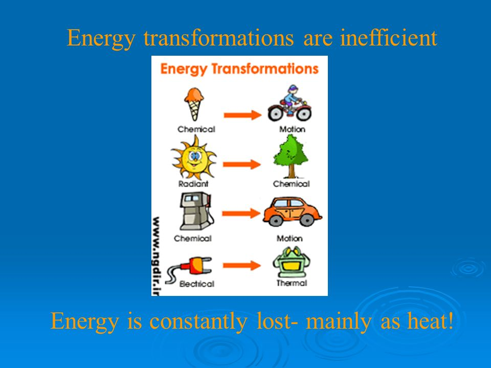 Energy abbreviated E Ability to do work 1 st law of thermodynamics: Energy can not be created or destroyed.
