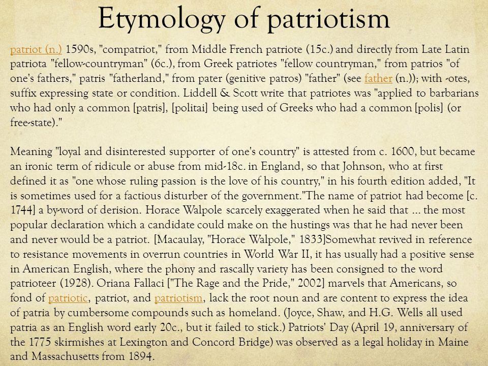 Patriotism Essays