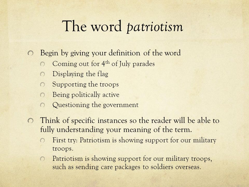 good patriotism essays