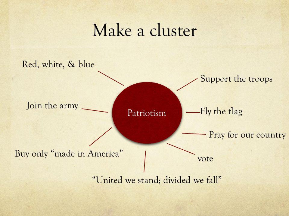 Example of definition essay patriotism