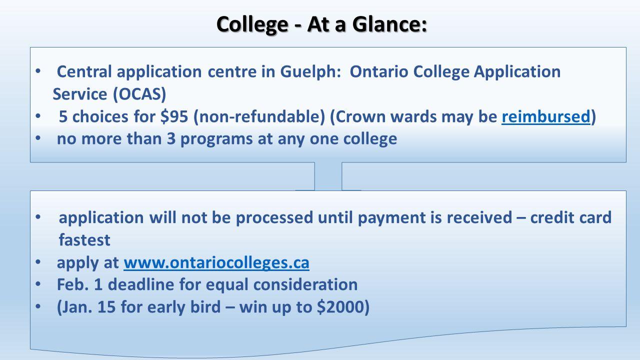 College application service
