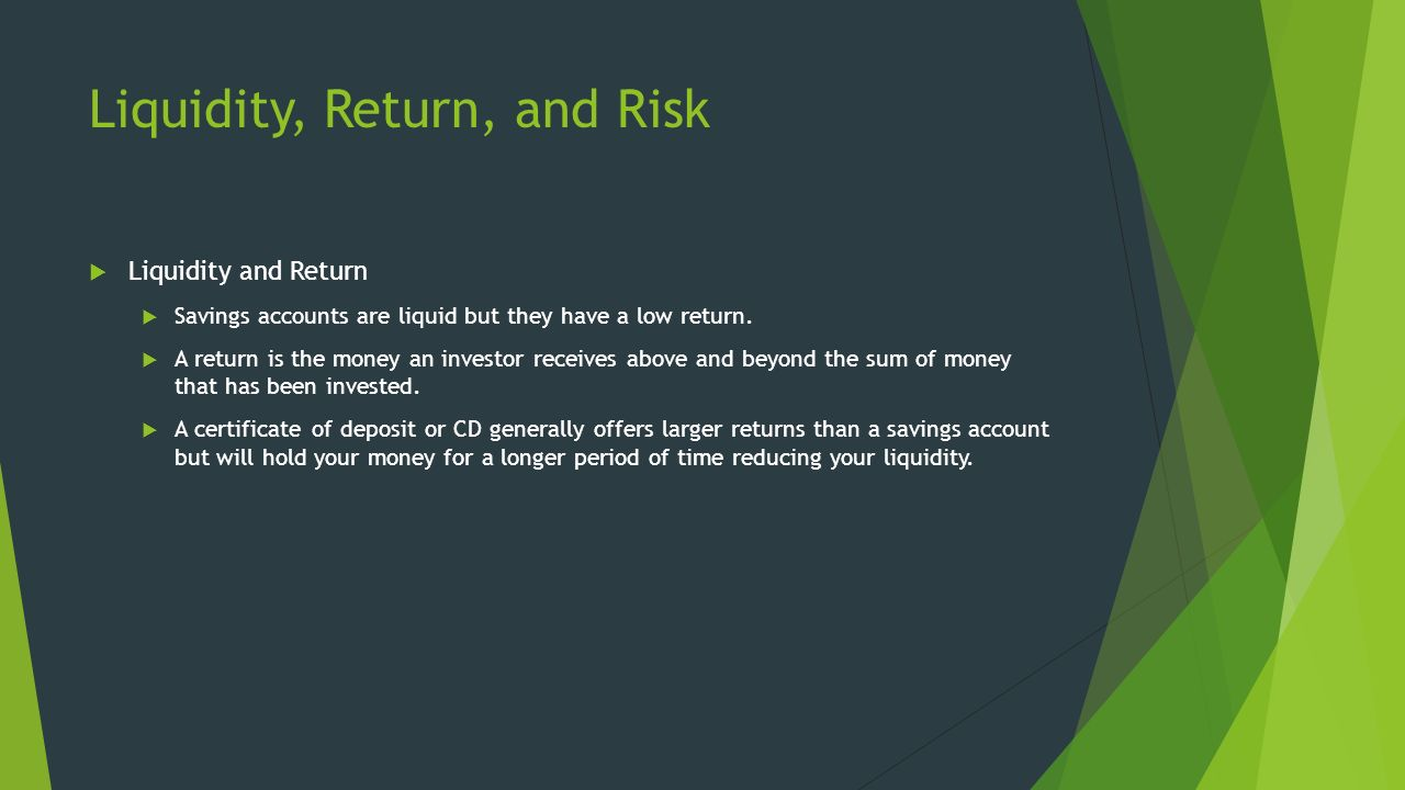 Financial markets economics section 1 savings and investing 10 liquidity xflitez Gallery