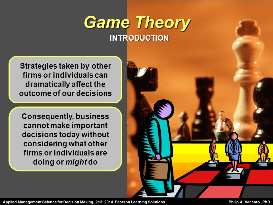 Game Theory Optimal Strategies Formulated In Conflict Mgmt E Ppt