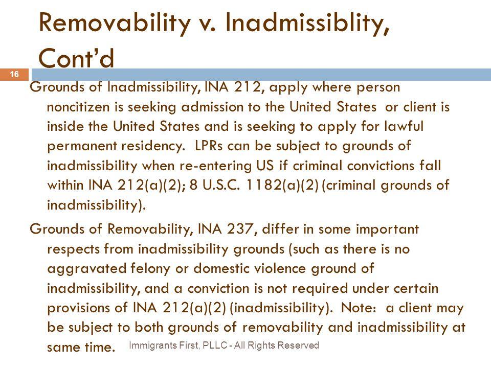 Removability v.