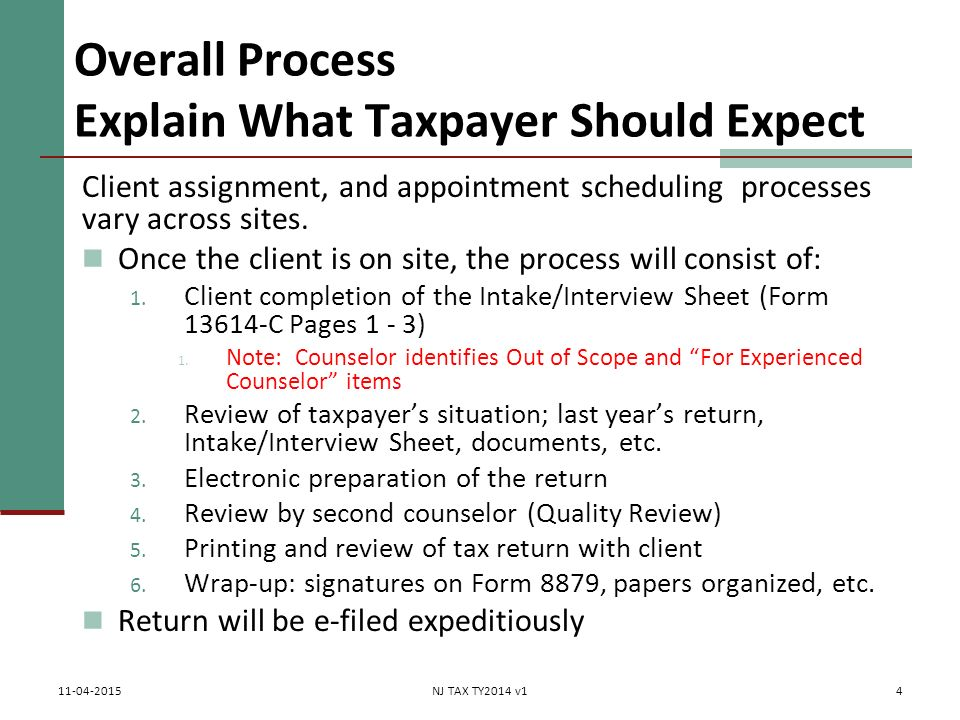 Intake/Interview Form, Screening & Interviewing Taxpayer Form C ...