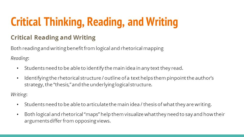 critical thinking in reading articles The critical thinking company publishes prek-12+ books and software to develop critical thinking in core subject areas.