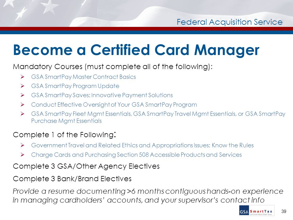 U.S. General Services Administration Federal Acquisition Service ...