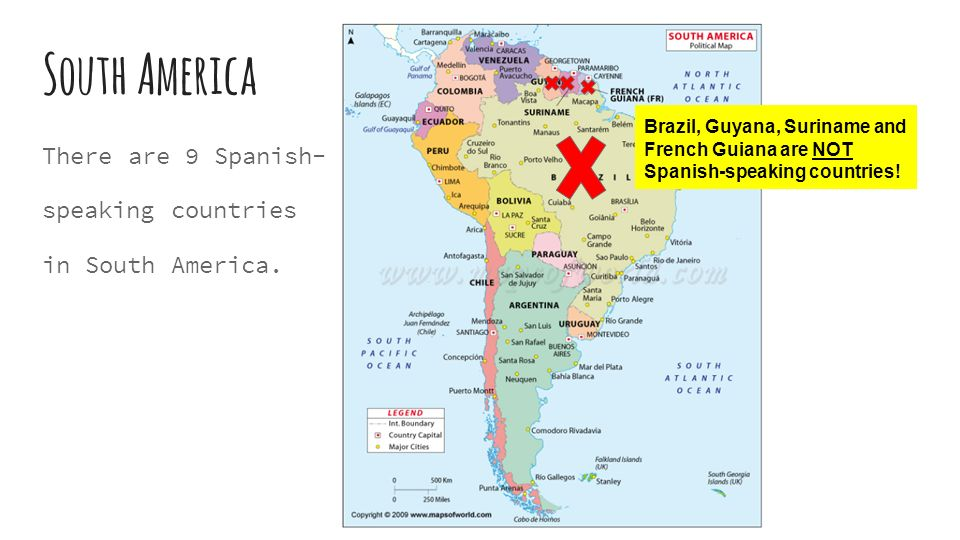 7 South America There Are 9 Spanish Speaking