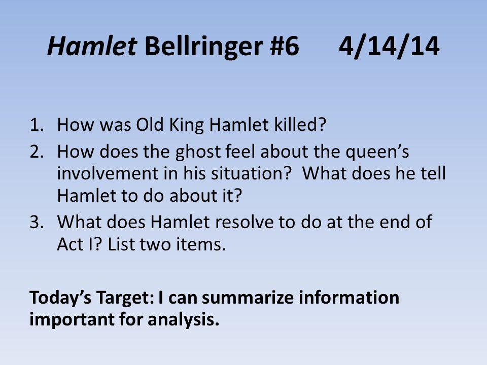 Hamlet: Character help?!?