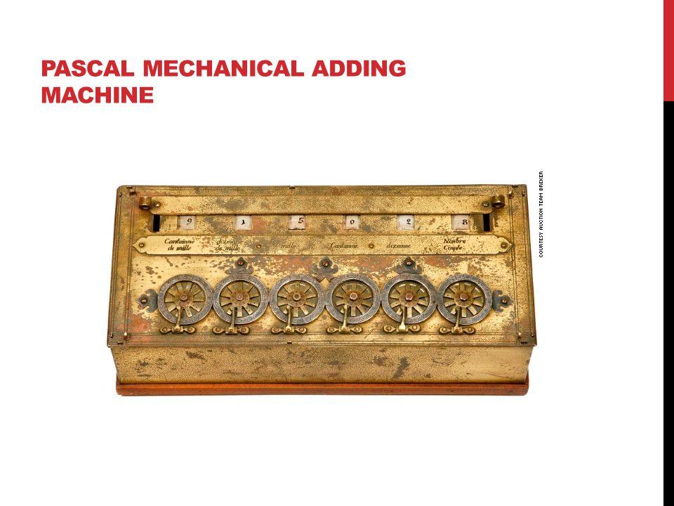 PASCAL MECHANICAL ADDING MACHINE