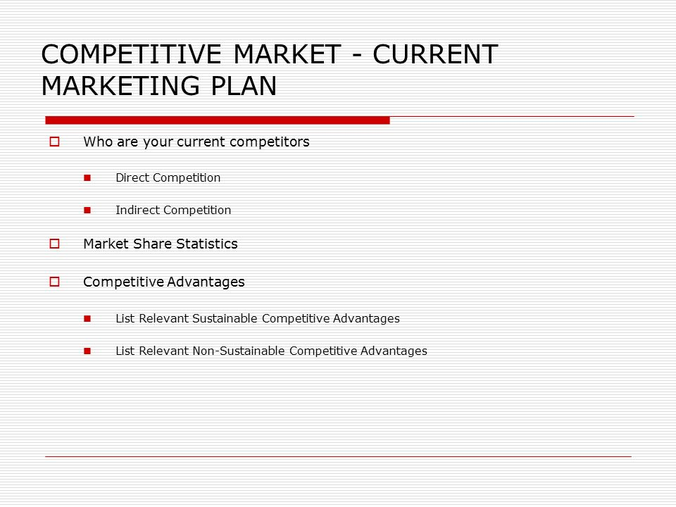 Marketing Plan Template The following template is a suggestion on – Marketing Plan Outline