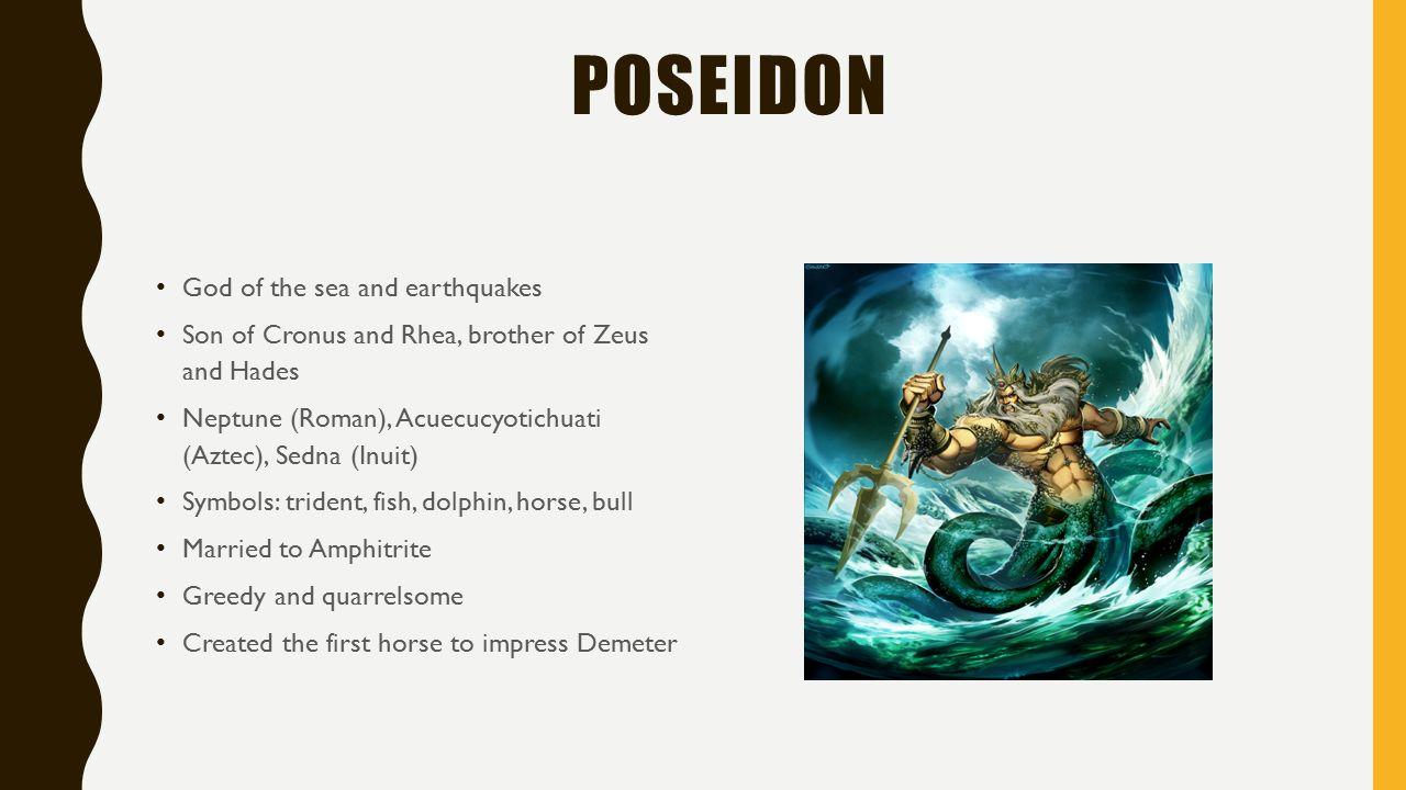 Greek gods and goddesses the olympians 12 immortals dwell on mount 13 poseidon buycottarizona Images