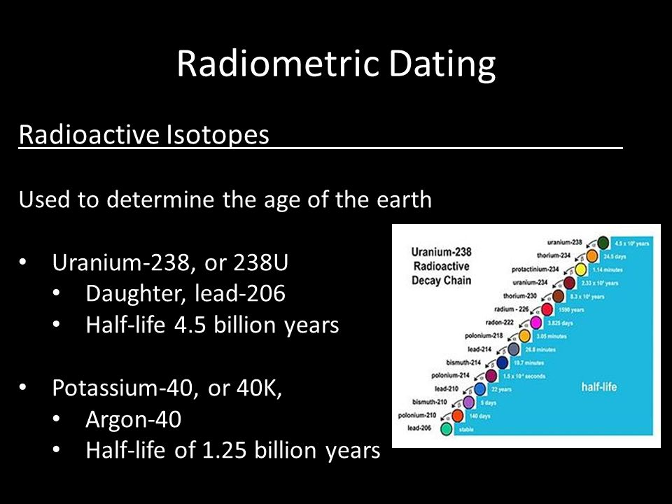 How to determine the age of a rock using radiometric hookup